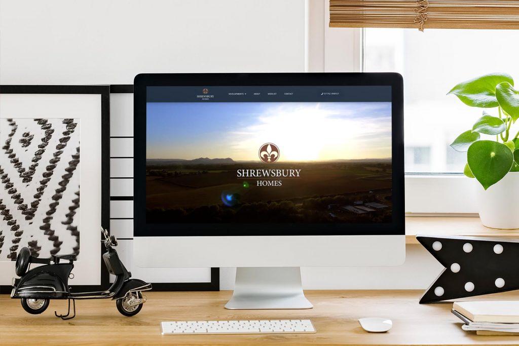Example of Shrewsbury Homes website on iMac