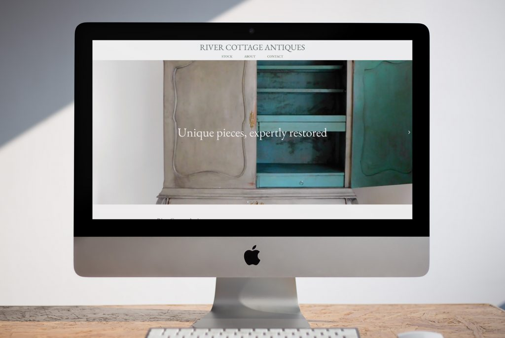 Example of River Cottage website design on an iMac