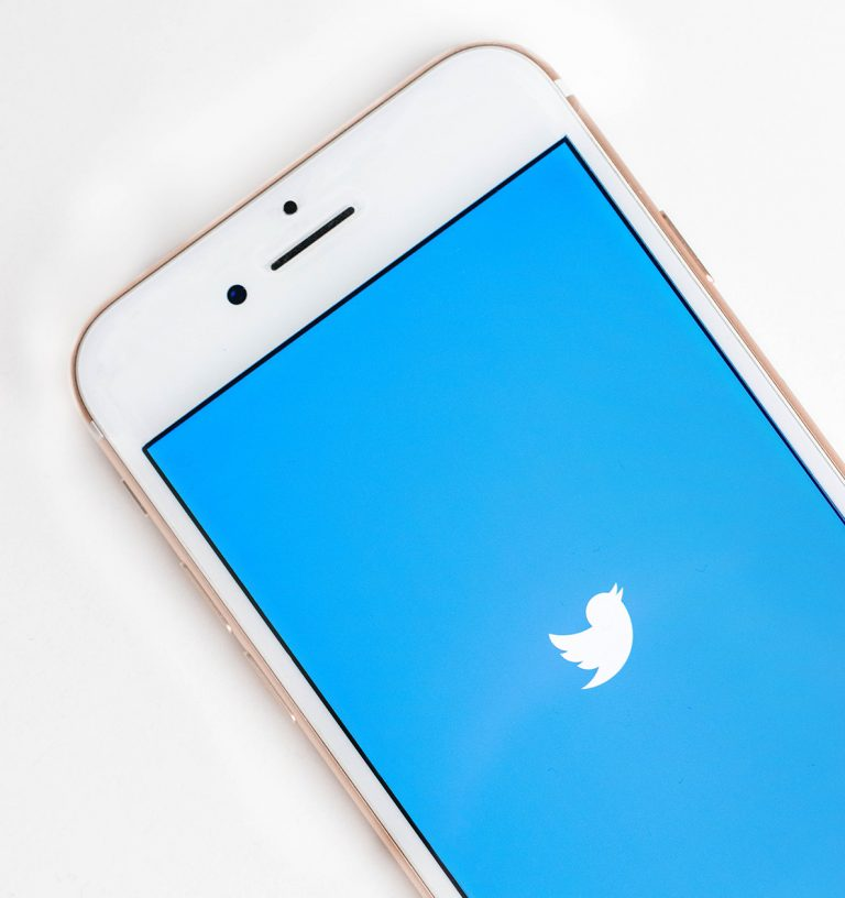 Twitter symbol on an iPhone